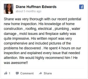 At Home Inspections Facebook Review by Diane