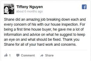 At Home Inspections Facebook Review by Tiffany